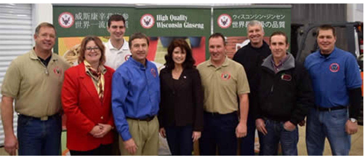 Lt Governor Rebecca Kleefisch visit's Heil Ginseng on December 5th to announce her trip to China on December 6th