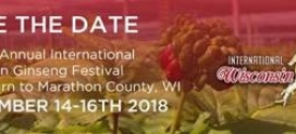 Ginseng Board of Wisconsin Announces 2018 Festival